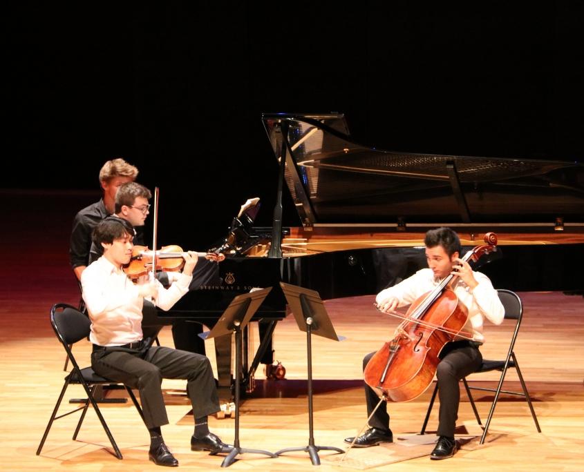 Soirée musique de chambre en trio Da-Min Kim Jean-Baptiste Mézières Nicolas Bourdoncle